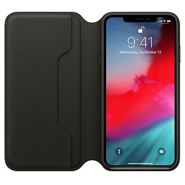 Avis Apple Étui Folio en cuir Noir Apple iPhone Xs Max