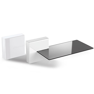Meliconi Ghost Cube Shelf Blanc Cache câbles et prises électriques avec étagère pour appareil audio vidéo