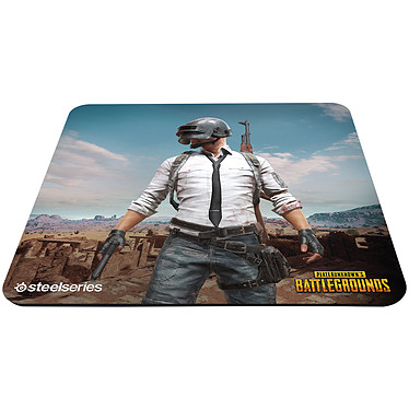 SteelSeries QcK+ (PUBG Miramar Edition) Tapis de souris gaming - souple - surface en tissu haute performance - base en gomme - format large (450 x 400 x 2 mm)