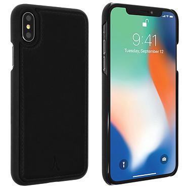 Akashi Coque Cuir Italien Noir iPhone Xs Max Coque en cuir véritable noir pour Apple iPhone Xs Max