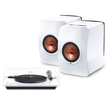 Elipson Omega 100 RIAA Blanc + KEF LS50 Wireless Blanc brillant / Cuivre