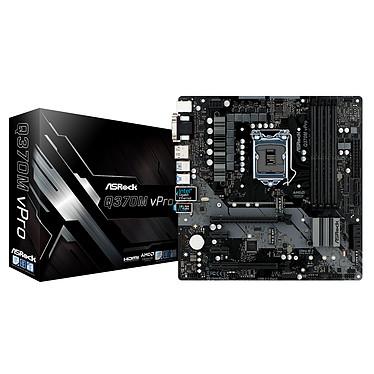 ASRock Q370M vPro Carte mère micro-ATX Socket 1151 Intel Q370 Express - 4x DDR4 - SATA 6Gb/s + M.2 - USB 3.1 - 2x PCI-Express 3.0 16x