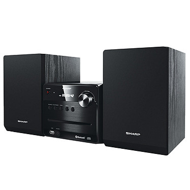 Sharp XL-B510 negro 2 x 7 vatios CD/FM/MP3 micro-canal con Bluetooth, USB y entrada auxiliar