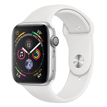 Apple Watch Series 4 GPS Aluminium Argent Sport Blanc 40 mm