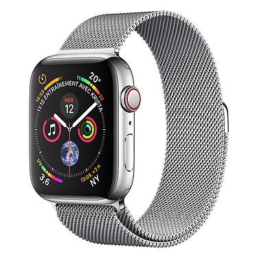 Apple Watch Series 4 GPS + Cellular Acier Argent Milanais 44 mm