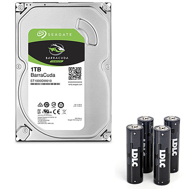 Seagate BarraCuda 1 To (ST1000DM010) + 4 piles LDLC AA LR6+ Offertes !