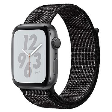 Apple Watch Nike+ Series 4 GPS Aluminium Gris Boucle Sport Noir 44 mm