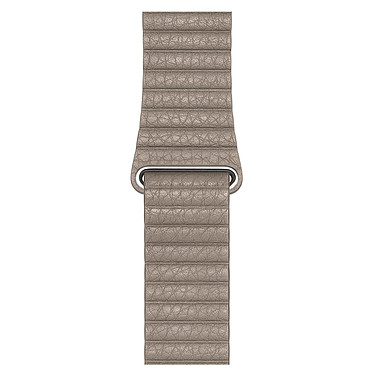 Apple Bracelet Cuir 44 mm Gris Sable - Large Bracelet en cuir pour Apple Watch 42/44 mm