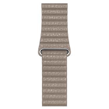 Apple Bracelet Cuir 44 mm Gris Sable - Medium Bracelet en cuir pour Apple Watch 42/44 mm
