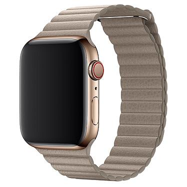 Avis Apple Bracelet Cuir 44 mm Gris Sable - Medium