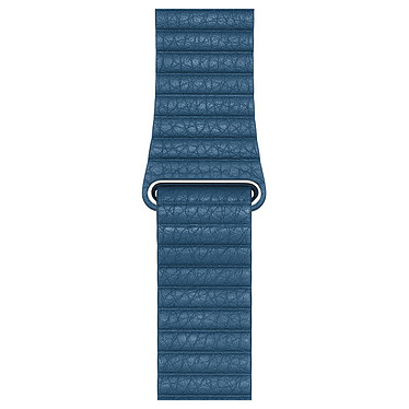 Apple Bracelet Cuir 44 mm Bleu Cape Cod - Large Bracelet en cuir pour Apple Watch 42/44 mm