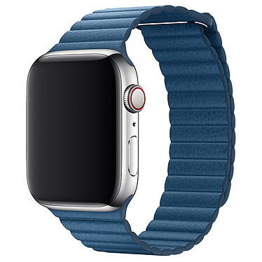 Avis Apple Bracelet Cuir 44 mm Bleu Cape Cod - Large