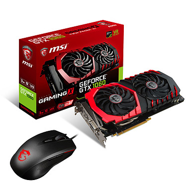 MSI GeForce GTX 1060 GAMING X 3G + Clutch GM40 OFFERTE !