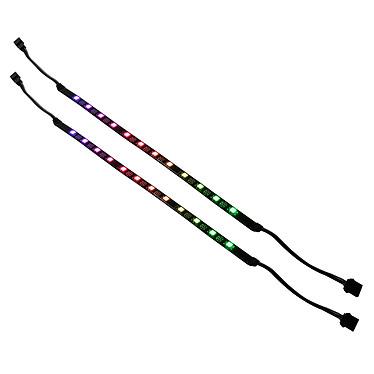 SilverStone LS03 Bande de lumière flexible RGB pour tuning PC 12 LEDs (x2)