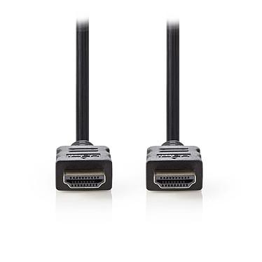 Nedis Câble HDMI haute vitesse avec Ethernet Noir (2 mètres) Câble HDMI 4K haute vitesse avec Ethernet Noir -2 mètres