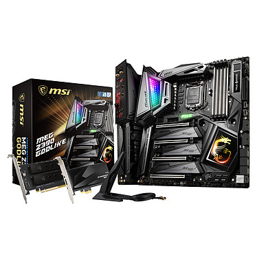 MSI MEG Z390 GODLIKE Carte mère E-ATX Socket 1151 Intel Z390 Express - 4x DDR4 - SATA 6Gb/s + M.2 - USB 3.1 - 4x PCI-Express 3.0 16x - WiFi