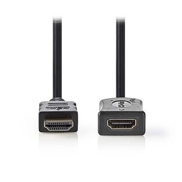 Nedis Rallonge HDMI haute vitesse avec Ethernet Noir (2 mètres) Câble HDMI 4K haute vitesse avec Ethernet mâle vers connecteur HDMI femelle Noir - 2 mètres