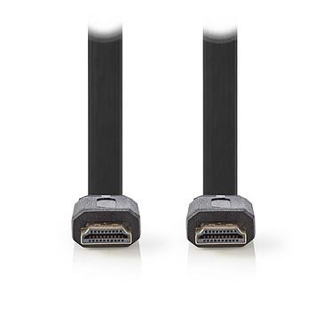 Nedis Câble HDMI plat haute vitesse avec Ethernet Noir (5 mètres) Câble plat HDMI 4K haute vitesse avec Ethernet Noir - 5 mètres