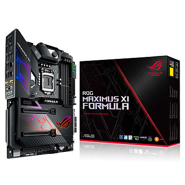 ASUS MAXIMUS XI FORMULA Carte mère ATX Socket 1151 Intel Z390 Express - 4x DDR4 - SATA 6Gb/s + M.2 - USB 3.1 - Wi-Fi AC/Bluetooth 5.0 - 3x PCI-Express 3.0 16x