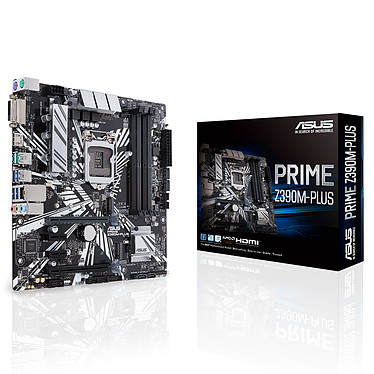 ASUS PRIME Z390M-PLUS Carte mère Micro ATX Socket 1151 Intel Z390 Express - 4x DDR4 - SATA 6Gb/s + M.2 - USB 3.1 - 2x PCI-Express 3.0 16x