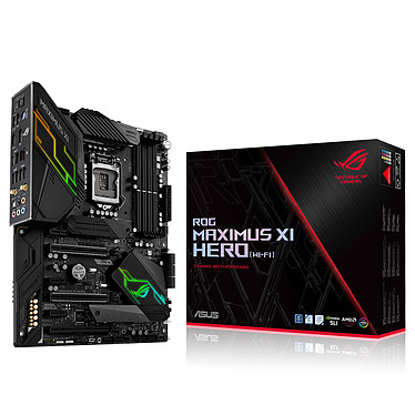 ASUS MAXIMUS XI HERO (WI-FI) Carte mère ATX Socket 1151 Intel Z390 Express - 4x DDR4 - SATA 6Gb/s + M.2 - USB 3.1 - Wi-Fi AC/Bluetooth 5.0 - 3x PCI-Express 3.0 16x