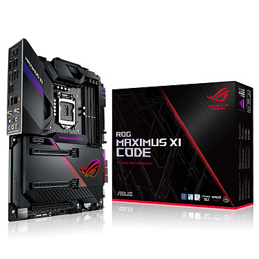 ASUS MAXIMUS XI CODE Carte mère ATX Socket 1151 Intel Z390 Express - 4x DDR4 - SATA 6Gb/s + M.2 - USB 3.1 - Wi-Fi AC/Bluetooth 5.0 - 3x PCI-Express 3.0 16x