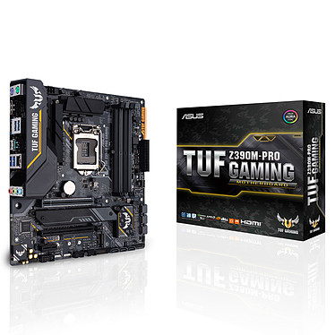 ASUS TUF Z390M-PRO GAMING Carte mère Micro ATX Socket 1151 Intel Z390 Express - 4x DDR4 - SATA 6Gb/s + M.2 - USB 3.1 - 2x PCI-Express 3.0 16x