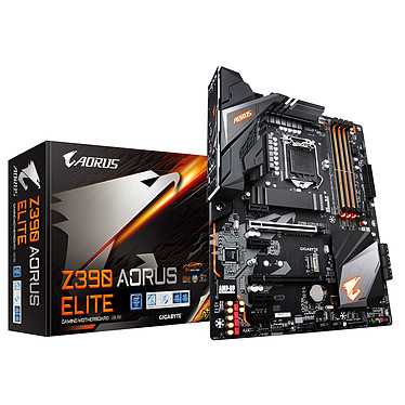 Gigabyte Z390 AORUS Elite Carte mère ATX Socket 1151 Intel Z390 Express - 4x DDR4 - SATA 6Gb/s + M.2 - USB 3.1 - 2x PCI-Express 3.0 16x