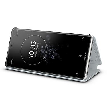 Sony Style Cover Stand Gris Xperia XZ3 Estuche protector con función de soporte para Sony Xperia XZ3
