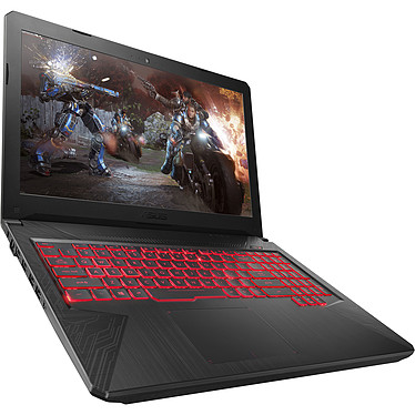 "ASUS TUF554GE-E4411T Intel Core i7-8750H 8 Go SSD 128 Go + SSHD 1 To 15.6"" LED Full HD NVIDIA GeForce GTX 1050 Ti 4 Go Wi-Fi AC/Bluetooth Webcam Windows 10 Famille 64 bits (garantie constructeur 2 ans)"