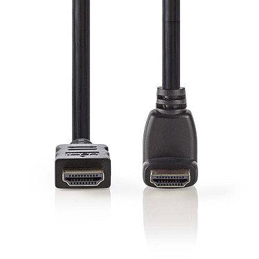 Nedis Câble HDMI coudé à 270° haute vitesse avec Ethernet Noir (1.5 mètre) Câble coudé à 270° HDMI 4K haute vitesse avec Ethernet Noir - 1.5 mètre