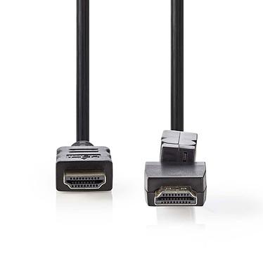 Nedis Câble HDMI rotatif haute vitesse avec Ethernet Noir (1.5 mètre) Câble rotatif HDMI 4K haute vitesse avec Ethernet Noir - 1.5 mètre