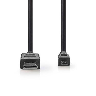 Nedis Câble Micro HDMI mâle / HDMI mâle haute vitesse avec Ethernet Noir (1.5 mètre) Câble Micro HDMI mâle / HDMI mâle haute vitesse avec Ethernet Noir - 1.5 mètre
