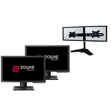 "BenQ Zowie 24"" LED - XL2411P (x2) + LDLC Support 2 Écrans"