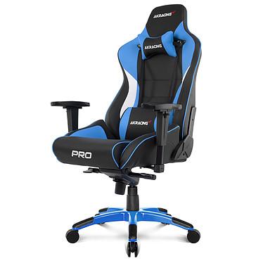 AKRacing Master Pro (noir/bleu) Siège en similicuir avec dossier réglable à 180° et accoudoirs 4D pour gamer (jusqu'à 150 kg)