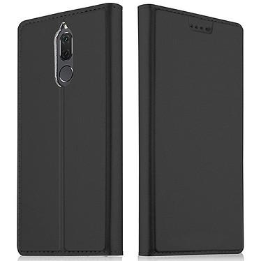 Akashi Etui Folio Noir Mate 10 Lite Etui folio en simili cuir pour Huawei Mate 10 Lite