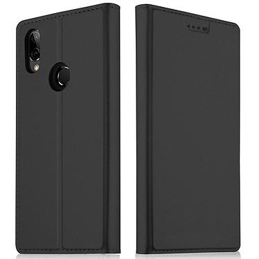 Akashi Etui Folio Noir P20 Lite Etui folio en simili cuir pour Huawei P20 Lite