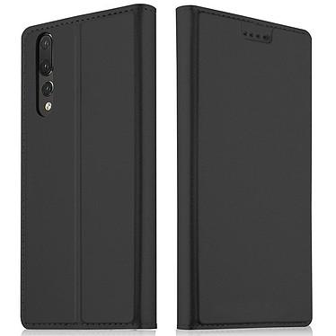 Akashi Etui Folio Noir P20 Pro Etui folio en simili cuir pour Huawei P20 Pro