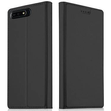 Akashi Etui Folio Noir Huawei Y6 2018