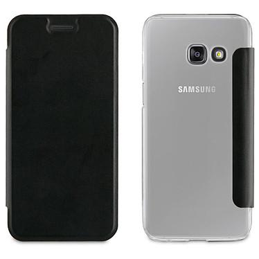 Akashi Etui Folio Noir Galaxy A3 2017 Etui folio noir en simili cuir pour Samsung Galaxy A3 2017