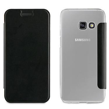 Akashi Etui Folio Noir Galaxy A5 2017 Etui folio noir en simili cuir pour Samsung Galaxy A5 2017