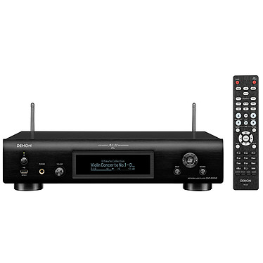 Denon DNP-800NE Noir Lecteur audio réseau Wi-Fi, Bluetooth, DLNA, AirPlay 2 avec port USB et compatibilité Amazon Alexa