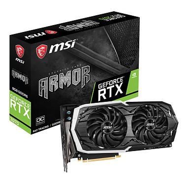 MSI GeForce RTX 2070 ARMOR 8G OC 8 Go GDDR6 - HDMI/Tri DisplayPort/USB Type-C - PCI Express (NVIDIA GeForce RTX 2070)