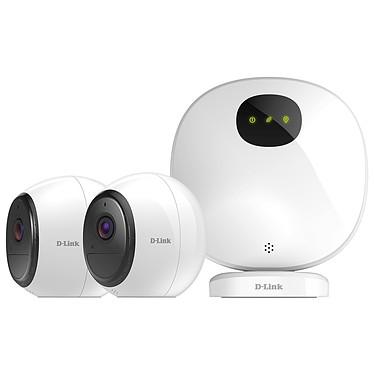 D-Link Mydlink Pro DCS-2802KT-EU Système avec passerelle de caméra intérieur de sécurité + 2 caméras sans fil Wi-Fi Full HD avec batterie