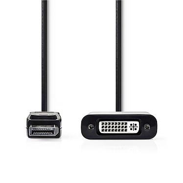 Nedis Câble DisplayPort mâle vers DVI-D femelle (20 cm) Câble DisplayPort vers DVI-D (Mâle/Femelle)