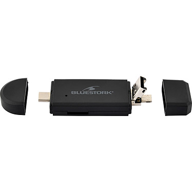 Opiniones sobre Bluestork USB-A/USB-C/micro-lector de tarjetas USB - 2 en 1