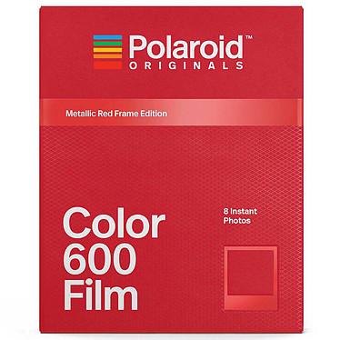 Polaroid Color 600 Film (cadre rouge) 8 films instantanés couleur avec cadre rouge métallisé pour appareil photo Polaroid 600 et i-Type