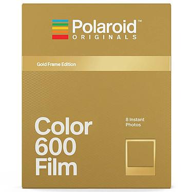 Polaroid Color 600 Película (marco dorado) 8 películas a color instantáneas con marco dorado para cámaras Polaroid 600 y i-Type
