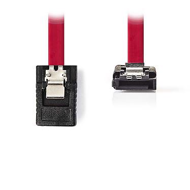 Nedis Cable SATA acodado con cierre (50 cm) Cable acodado compatible con SATA II (3 Gb/s)