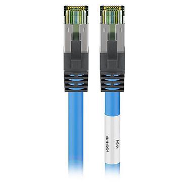 Goobay Cable RJ45 Cat 8.1 S/FTP 2 m (Azul) Cable Ethernet blindado RJ45 categoría 8.1 S/FTP 2 metros (azul)